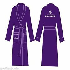 Fremantle Dockers Dressing Gown With Embroidered Logo AFL New One Size Fits Most