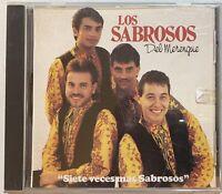 Los Sabrosos Del Merengue - Siete Veces Mas Sabrosos CD 1991 Salsa Merengue