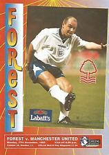 Football Programme - Nottingham Forest v Manchester United - Premiership - 1995