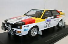 Coches de rally de automodelismo y aeromodelismo Audi de escala 1:18