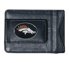 Denver Broncos NFL Football Team Leather Card Holder Money Clip Wallet
