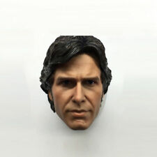 1/6 Scale Han Solo Harrison Ford Head Sculpt Star Wars For 12'' Action Figures
