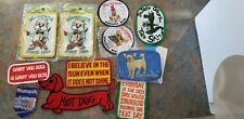 Vintage Lot Of Patches Mostly New Unused Dead Stock Sew In Various Styles