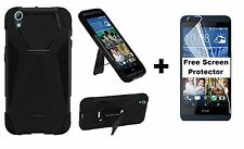 For HTC Desire 626 626s Hybrid Phone Case + Screen Protector Black