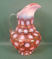 NORTHWOOD CRANBERRY OPALESCENT THREE TIERED COIN SPOT TANKARD