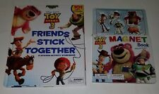 Toy Story 3 Activity Book Lot Magnets Friends Stick Together Vinyl Stickers