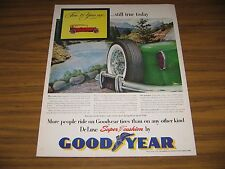 1953 Print Ad Goodyear Super Cushion Tires 1915 Car from 38 Years Ago