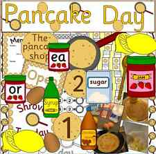 PANCAKE DAY / SHROVE TUESDAY teaching resource on CD, festivals, display, games