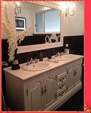 French Provincial Bathroom Vanity Romeo 1800 White Stone Top