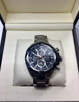 Seiko Velatura watch used chronograph quartz stainless steel date