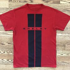 vintage Shelby Racing Stripe T Shirt SMALL red