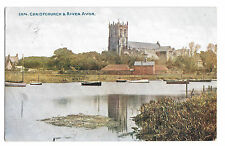 Christchurch & River Avon, Unposted, Photochrom Celesque no 2874