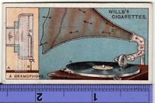How An Early Gramophone Worked Playing Records 90+  Y/O Ad Trade Card