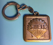 Vintage Shell Motor Oil Brass Metal Collectable Key Ring Chain