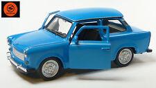 Trabi-Jubiläum 2014: 50 J. Trabant 601 Modellauto 11cm WELLY Sonderfarbe blau