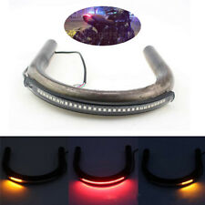 Motorcycle LED Tail Rear Light Rear Armrest Brake Turn Signal Lamp Amber & Red