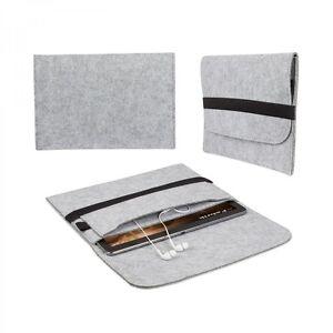 eFabrik Tasche für CSL Panther Tab 10 Hülle Schutz Cover Case aus Filz Grau