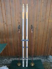 """GREAT Ready to Use Cross Country 77"""" TITAN  200 cm Skis + Poles"""