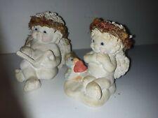 Dreamsicles 1994 & 95 Cherub Angels X2 heart Valentine Figurines & Shelf Sitter