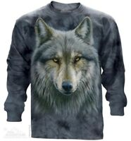Warrior Wolf Long Sleeve T-Shirt by The Mountain. Wolf Tee S-2XL NEW