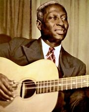 "LEAD BELLY AFRICAN AMERICAN BLUES MUSICIAN 8x10"" HAND COLOR TINTED PHOTO"