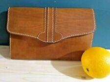 BOXCA DENMARK Scandinavian Vintage Kernleder Clutch 60-70 jahre