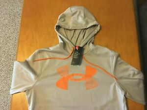NWT MENS SMALL UNDER ARMOUR COLDGEAR PULLOVER HOODIE.