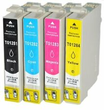 4 COMPATIBLE INK CARTRIDGES REPLACE EPSON T1281 T1282 T1283 T1284 -Prime T1285