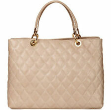 Borsa a mano in pelle trapuntata colore beige Bottega Carele
