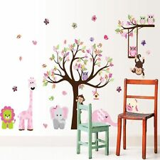 Kids Baby Animals Tree Monkey Nursery Removable Wall Decal Stickers Room Décor