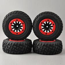 4Pcs 1:10 Short Course Truck Tires&Bead-Lock Wheel For RC TRAXXAS Slash Car #05