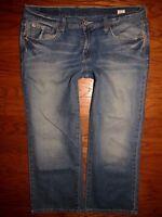 LUCKY BRAND Classic Rider Crop Stretch Jeans Sz 12 / 31 W 35 x L 22