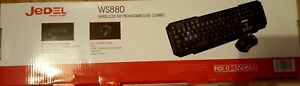 Jedel WS880 Wireless Gaming Desktop Keyboard and Mouse Multimedia UK Layout Blue