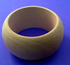 6 Wide Small Unfinished Plain Natural Wood Bangles Bracelet Bangle DIY 08083