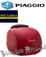 6647 - ORIGINALE PIAGGIO BAULETTO POSTERIORE ROSSO DRAGO 894 VESPA 125 250 GTS
