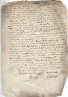 1660 manuscript document damaged post medieval oncial autograph signatures