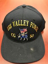 USS VALLEY FORGE CG 50 blue adjustable cap hat USA Vintage The Corps SnapBack