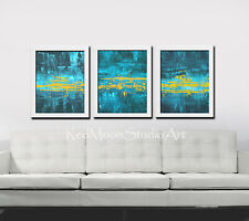 54x24 Abstract Art Large Abstract Painting - US Artist