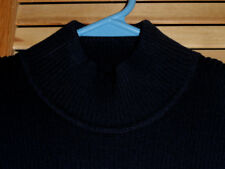 NEW WITH TAGS-WOMENS JONES NEW YORK SWEATER-MOCK-DARK BLUE-SHORT SLEEVE-SIZE S