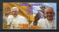 Dominican Republic 2016 MNH Pope Francis & Benedict XVI 2v Set Popes Stamps
