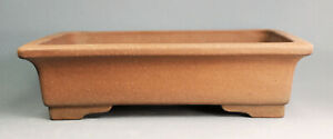 Tokoname Rect. Bonsai Pot by Sanpou, #28T02 : 313*245*H83mm