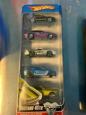 2009 Hot Wheels 5 pack  Mustang 45th box shows wear