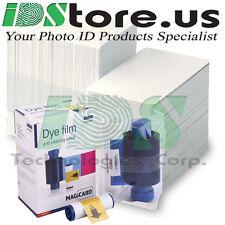 Magicard  MA250YMCKOK  Color Ribbon & 200 Blank White PVC Cards Bundle