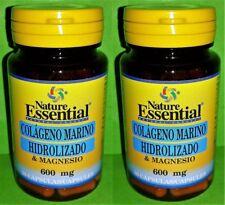 Collagène Marin Hydrolysé Magnésium 600mg 2x60 Capsules Nature Essential