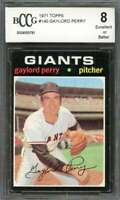 Gaylord Perry Card 1971 Topps #140 San Francisco Giants BGS BCCG 8