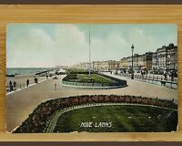 Vintage Postcard-Sussex-Brighton & Hove- Hove Lawns/Seafront-Colour