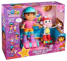 Fisher Price Skate Spin Dora The Explorer Boots Ages 3+ Magic Girls Boys Play