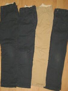 boys lot All Gap 7 SLIM 7S pant pants adjustable waist chino casual blue tan