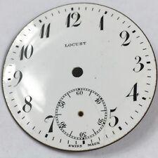Locust Porcelain Pocket Watch Dial Face Repair Altered Art Watchmaker Lot White