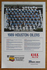 1989 Canada Post CFL Saskatchewan Roughriders Team Poster, Folded